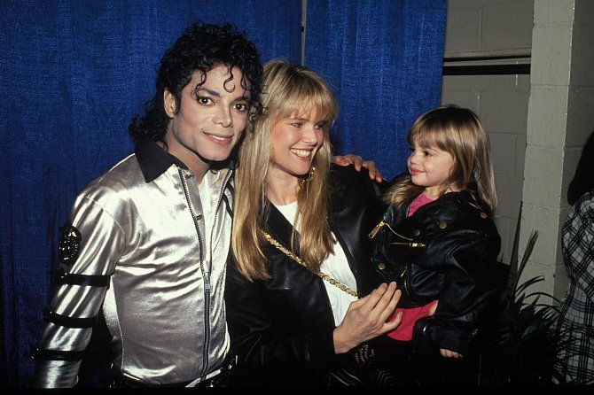 Chtistine Brinkley s dcerou a Michaelem Jacksonem.