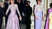 V tomto případě využila krásnou vrchní část šatů.