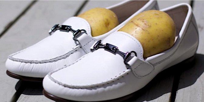 Ilustrační foto - brambory v botách