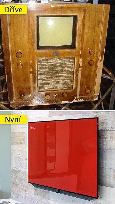 Televize - byla dříve spíše skříní, kde jste našli malý hýbající se obrázek