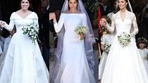 Svatební šaty Eugenie, Meghan a Kate. Které jsou nejkrásnější?