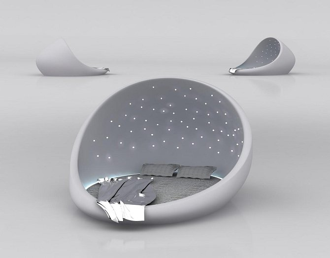 Ruská designérka Natalia Rumyantseva je autorkou této postele.