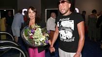 Nela Boudová Jan Tuna přišli na premiéru filmu Večírek jako oficiální pár.