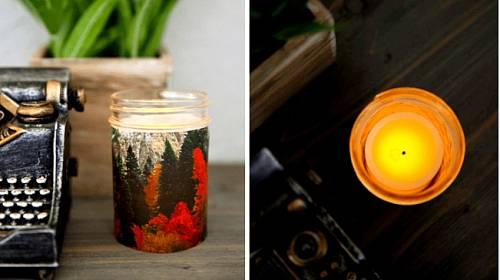 Když kousek kalendáře nalepíte na svíčku, bude hezčí.