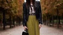 Dlouhé sukně, která zakryje boty, vám přidá několik centimetrů.