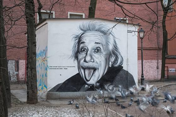 Snímek vyplazeného jazyka Alberta Einsteina se dočkal mnoha dalších ztvárnění.
