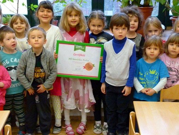 MŠ Semínko získala bronzovou medaili v projektu Skutečně zdravá škola.
