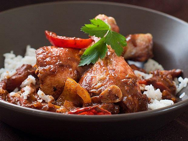 Kuře v rýži na leču