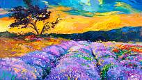 levandulová pole inspirují i malíře