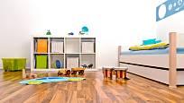 V dětském pokoji jsou oblíbené plovoucí podlahy