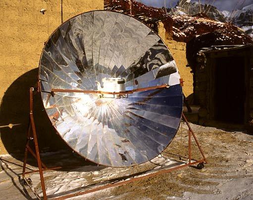 parabolický koncentrátor