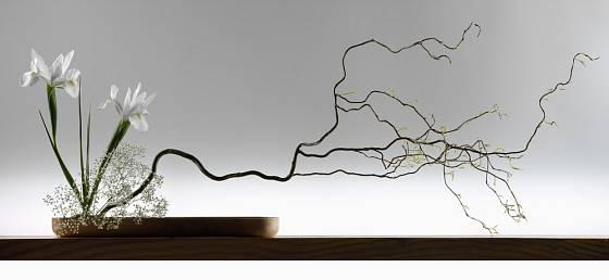 Minimum prvků použitých v ikebana stylu zajistí maximální výsledek.
