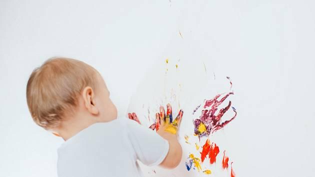 Omyvatelné nátěry ocení hlavně rodiny s malými dětmi