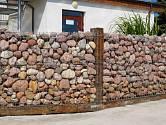 Plot z gabionů může být pohledný a originální