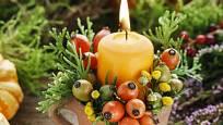 Vyberte svíčku v podzimních barvách