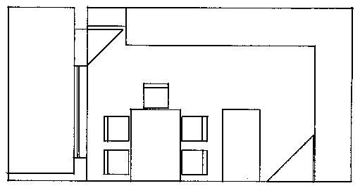 Stav před rekonstrukcí - náčrt