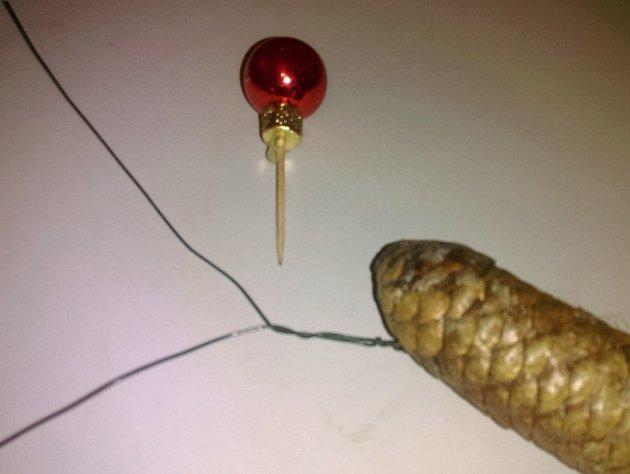 Drátkováni šisky a výroba zápichu z kouliček.