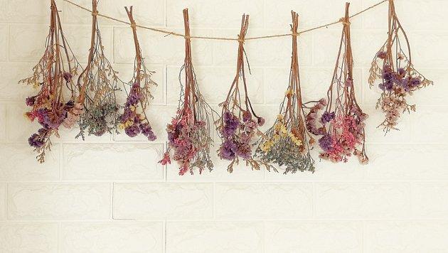 K oblíbeným výzdobám našich babiček patřily svazečky usušených květin.