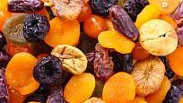 Pestrá směs sušeného ovoce