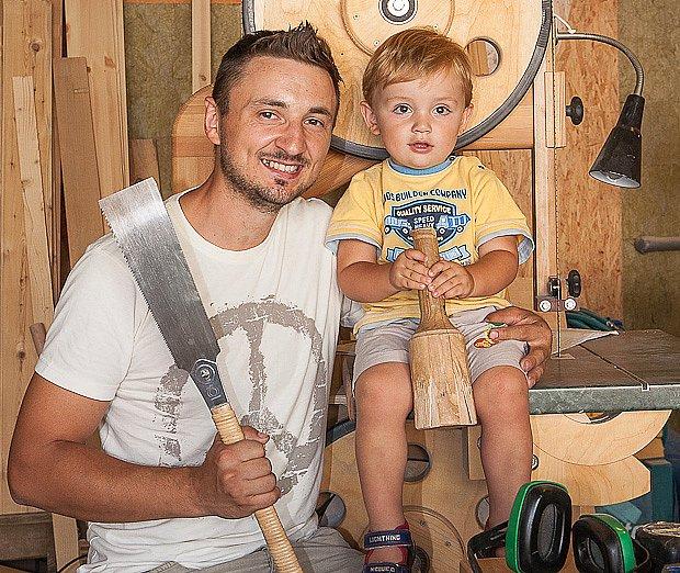 pan Kiška se synem Kristiánem