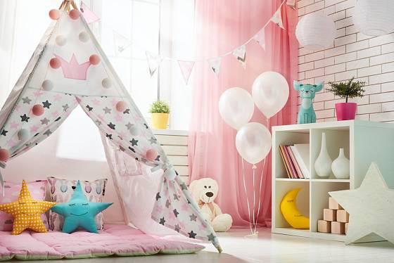 Dětský stan je ideálním herním místem