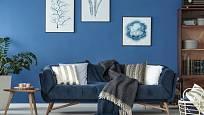 Modrá barva uklidňuje a osvěžuje. Zároveň vyvolává pocit dálek a hloubek.