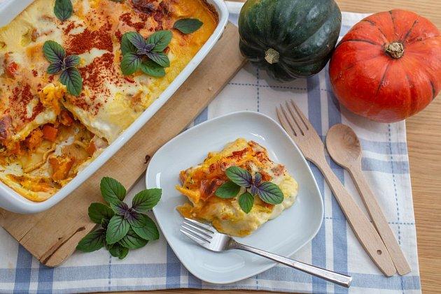 Dýňové lasagne jsou šťavnaté a plné betakarotenu
