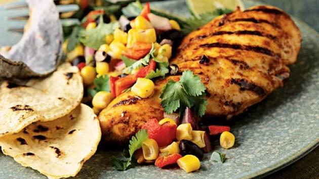 kuře s kukuřicí a paprikou