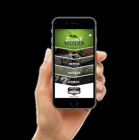 Zelený trávník - mobilní aplikace Briggs & Stratton