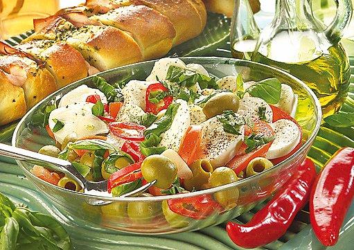 mozzarella s olivami