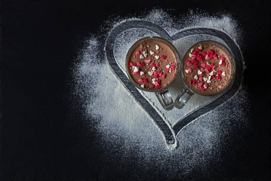 Čokoládová pěna je ideální dezert na valentýnský večer