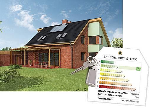 energetický štítek domu
