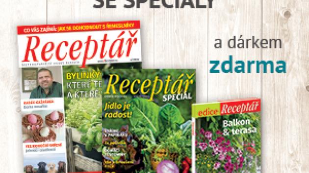 Časopis Receptář, roční předplatné, duben 2020
