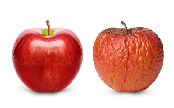 Skvrklým jablkům bychom se měli vyhnout obloukem.