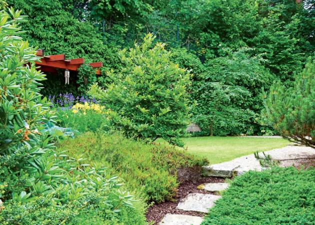 Zahradu se už ve fázi plánování snažte rozčlenit do různých tematických celků, které budou reagovat na potřebu zajištění soukromí