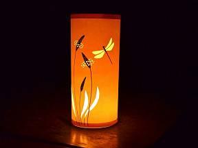 papírový svícen z kartonu a pauzáku