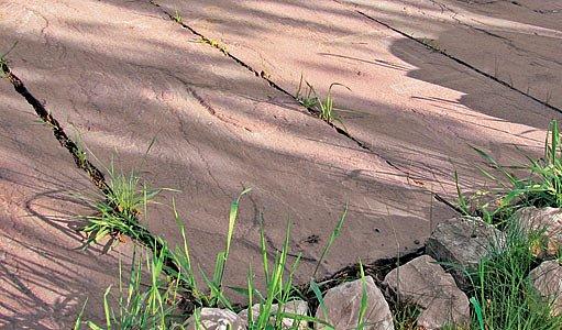 Přírodní kámen působí na terase nejpřirozeněji