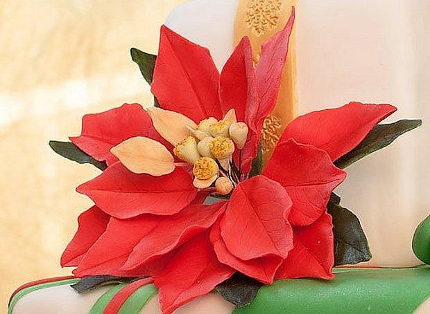 Vánoční hvězda jako jeden ze symbolů Vánoc, tentokrát z cukrářské hmoty