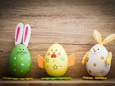 Velikonoční figurky z vyfouknutých vajec.