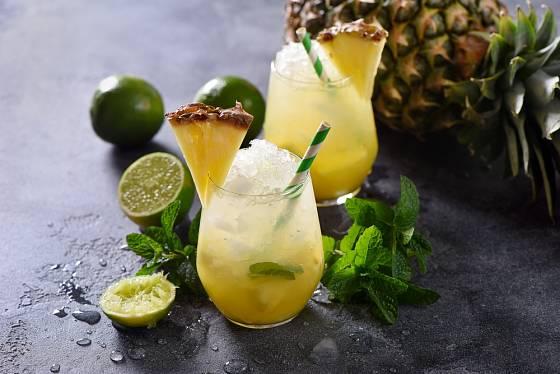 Ananas je výbornou přísadou do nápojů