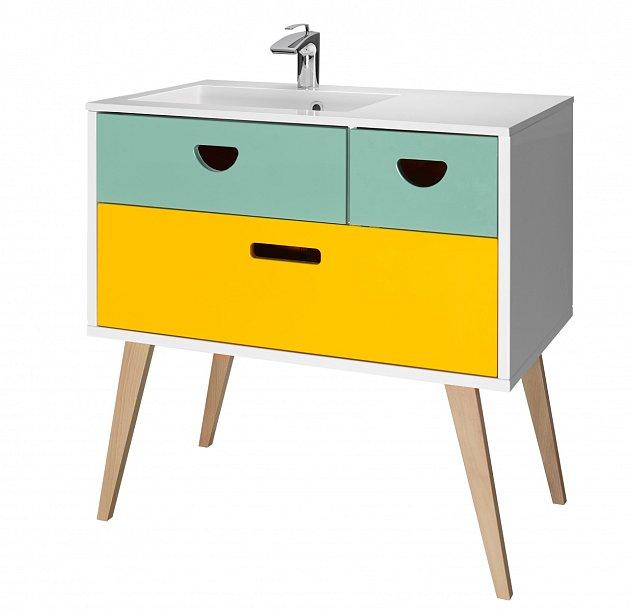 koupelnový stolek ve stylu retro