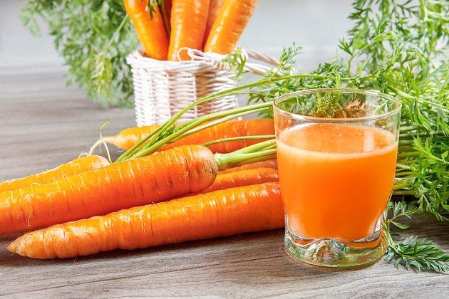mrkvová šťáva nejen pro ostrý zrak