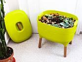 Kompostér Urbalive naplněný materiálem. Foto Plastia