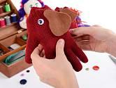z rukavice při troše fantazie vykouzlíte i slona