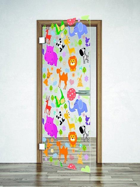dveře s digitálním tiskem na skle