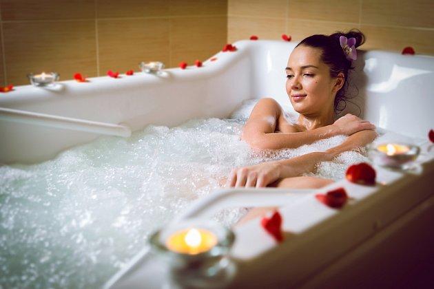 Bublinková lázeň odplaví únavu i stres