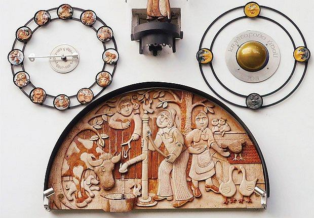 detail orloje v Kryštofově