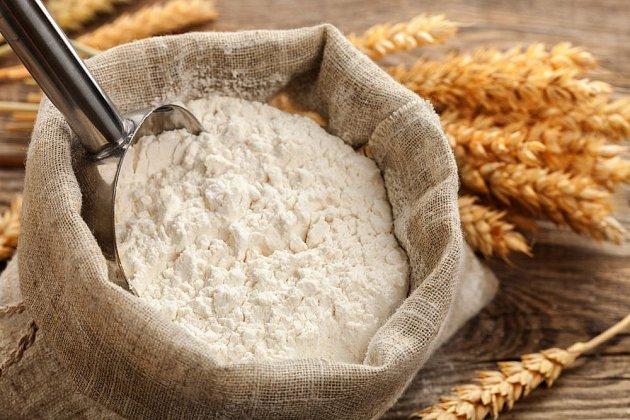 Zvláště bílá pšeničná mouka je na lepek velmi bohatá