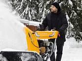 Pásové fréza je vhodná tam kde padá hodně sněhu