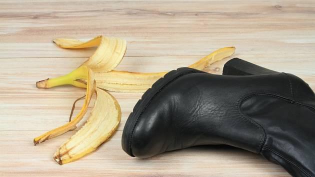 Slupky od banánu můžeme použít i jako leštidlo na boty.